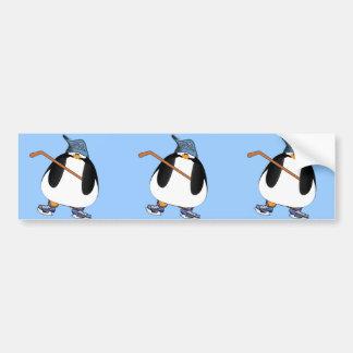 Hockey Penguin Bumper Sticker