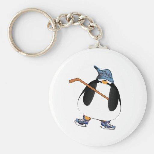 Hockey Penguin Keychain