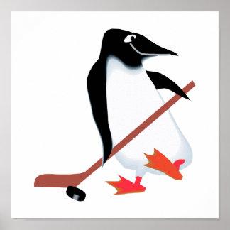 Hockey penguin poster