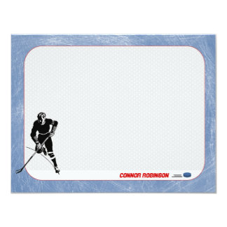 Hockey Personalized Note Cards