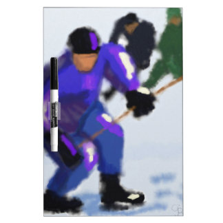 Hockey Play Art Dry-Erase Board