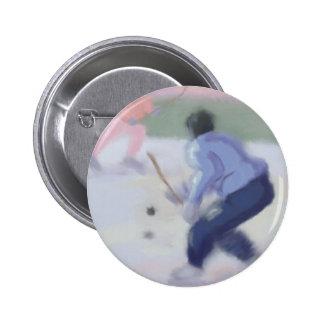 Hockey Play Pinback Button