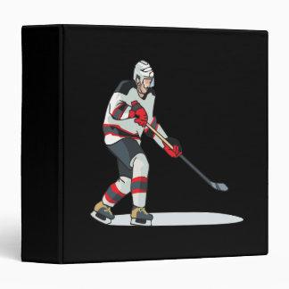 Hockey Player 3 Ring Binders