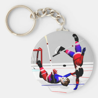 Hockey Player Action Key Chains