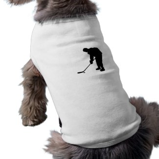Hockey Player and puck Silhouette T-Shirt