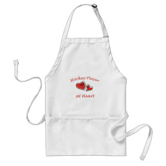 Hockey Player at Heart Adult Apron