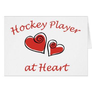 Hockey Player at Heart Card