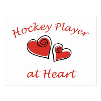 Hockey Player at Heart Postcard