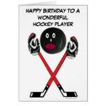 Hockey Player Birthday Greeting Card