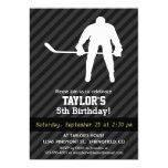 Hockey Player; Black & Dark Gray Stripes Card