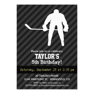 Hockey Player; Black & Dark Gray Stripes Card
