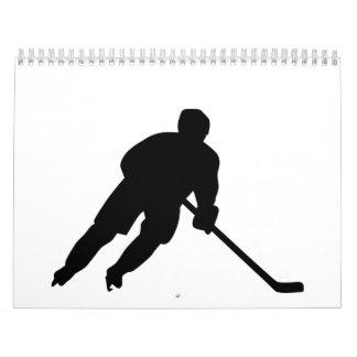 Hockey player calendar