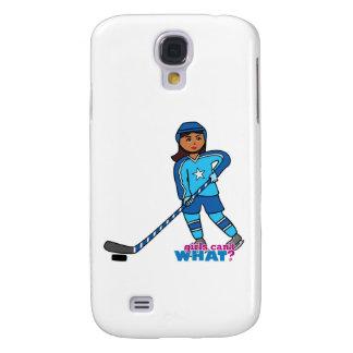 Hockey Player - Dark With Blue Uniform Galaxy S4 Case