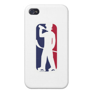 Hockey Player Drinking iPhone 4/4S Covers