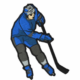 Hockey Player Embroidered Shirt