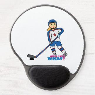 Hockey Player Girl Gel Mouse Mat