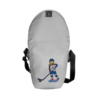 Hockey Player Girl Messenger Bag