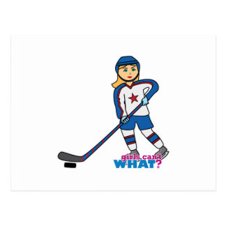 Hockey Player Girl Postcard