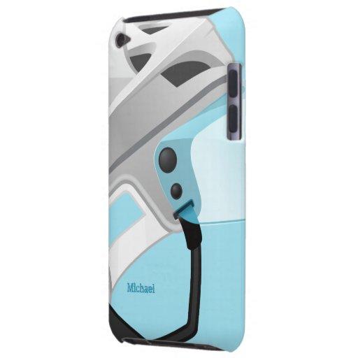 Hockey Player Helmet iPod Case-Mate Case