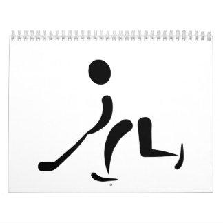 Hockey Player icon Calendar
