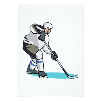 Hockey Player Personalized Invitations