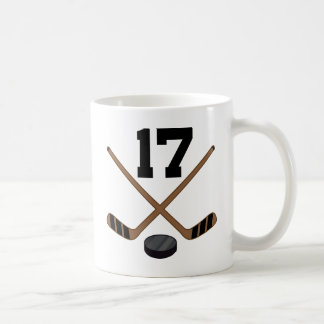 Hockey Player Jersey Number 17 Gift Coffee Mug