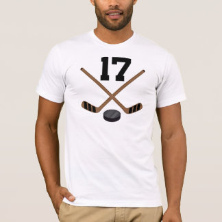 Hockey Player Jersey Number 17 Gift T-Shirt