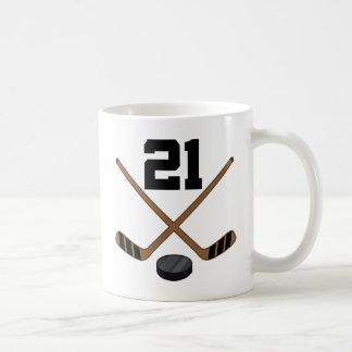 Hockey Player Jersey Number 21 Gift Coffee Mug