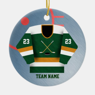 Hockey Player Jersey Ornament