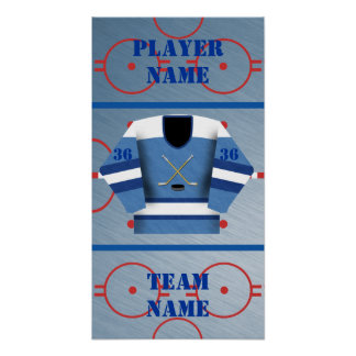 Hockey Player Jersey Poster