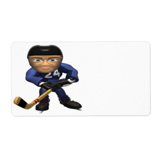 Hockey Player Label