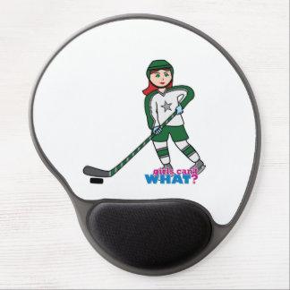Hockey Player Light/Red Gel Mousepads