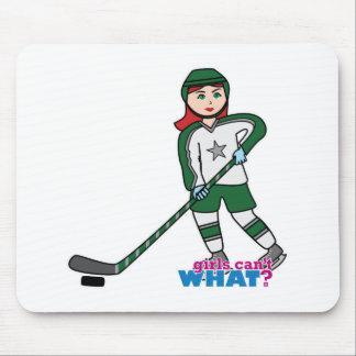 Hockey Player Light/Red Mousepad