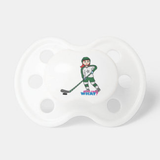 Hockey Player Light/Red Pacifier