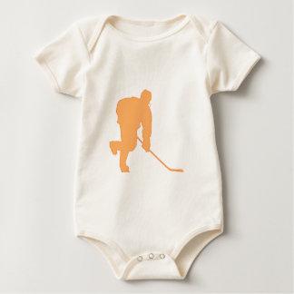 Hockey_Player_ORANGE2 Baby Bodysuit