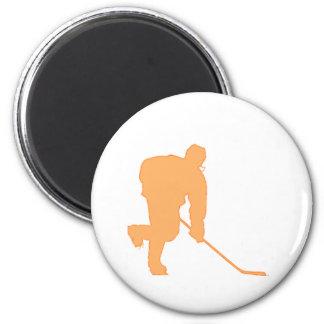Hockey_Player_ORANGE2 Imán Redondo 5 Cm