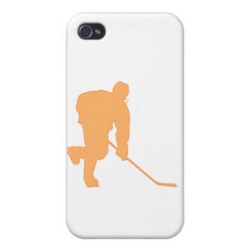 Hockey_Player_ORANGE2 iPhone 4 Funda