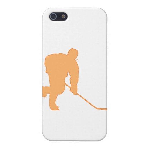 Hockey_Player_ORANGE2 iPhone 5 Carcasa