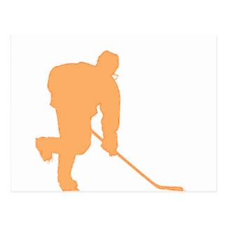 Hockey_Player_ORANGE2 Postales