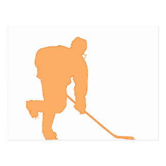 Hockey_Player_ORANGE2 Postcard