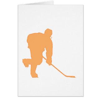 Hockey_Player_ORANGE2 Tarjeta De Felicitación