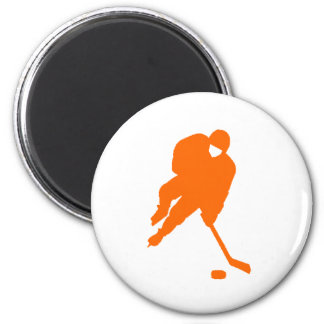 hockey player orange magnet