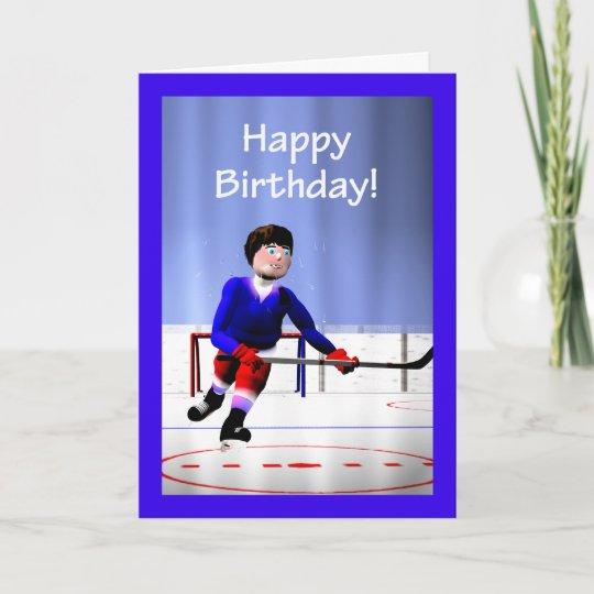 Hockey Player Overtime Birthday Card Zazzle