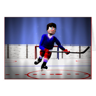 Hockey Player Overtime Greeting Card