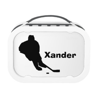 """""""Hockey Player"""" Personalized Lunch Box"""