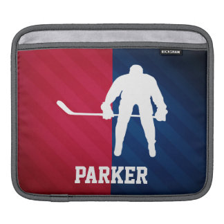 Hockey Player; Red, White, and Blue Sleeve For iPads