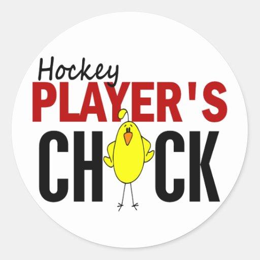 HOCKEY PLAYER'S CHICK STICKERS