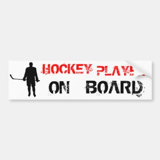 Hockey Player Silhouette Bumper Sticker