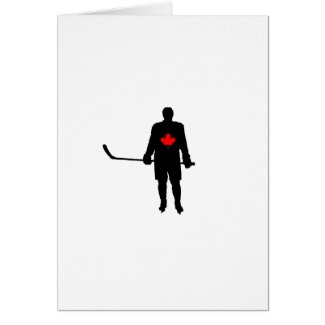 Hockey Player silhouette Canada Leaf