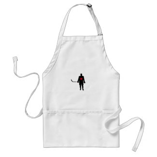 Hockey Player silhouette Canada Leaf Adult Apron